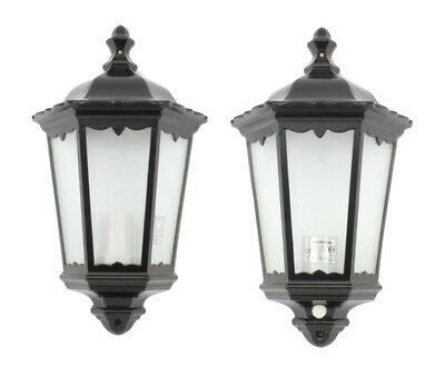 Traditional Outdoor Outside Garden Wall Light Half Lantern With / Without Sensor