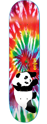 Enjoi Skateboards Deck Tie Dye V4 Panda 8.25 R7 Free Grizzly Grip Skateboard