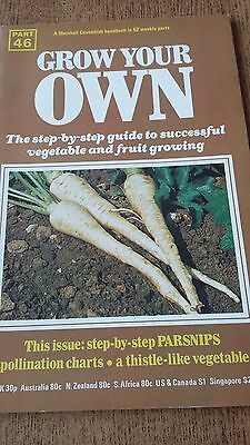 Grow Your Own PARSNIPS Vegetables Seeds Marshall Cavendish Handbook Part 46