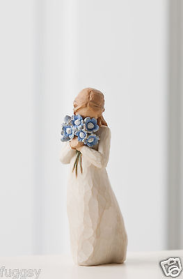Forget Me Not Girl with Flowers Willow Tree Figurine By Susan Lordi NEW 26454