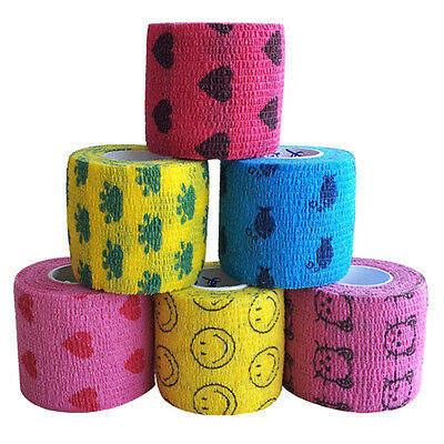 5M Pet Cat Dog Adhesive Bandage Tape First Aid Care Self Adherent Wrap Durable