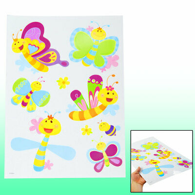 Colorful Self Adhesive Cartoon Bee Sticker Set Wall Decor