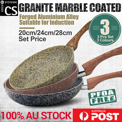 NEW Marble Stone Ceramic coated Non-stick aluminium Cookware Set Frying pan