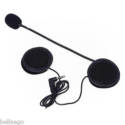 Microphone Speaker Soft Cable Headset Accessory for Motorcycle Helmet - BLACK