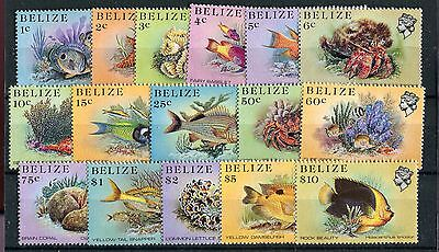 Belize QEII 1984 marine life definitive set of 16 SG766/81 MNH