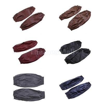 PU Leather Waterproof Commercial Restaurant Kitchen Cooking Cuffs in 6 Colors