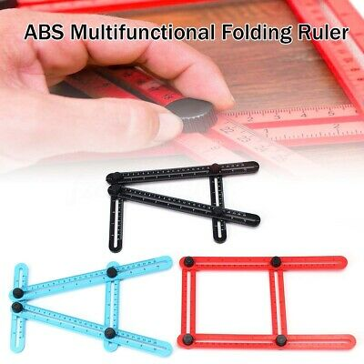 Four Multi Angle Finder Ruler Measuring Tool ABS Template Folding Plastic 25cm
