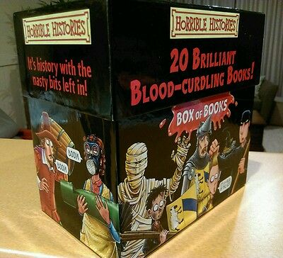 Horrible Histories Blood Curdling 20 Pcs Box Set Paperbacks By Terry Deary. 3805