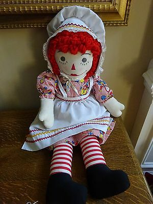 Vintage Raggedy Ann Doll Homemade Adorable