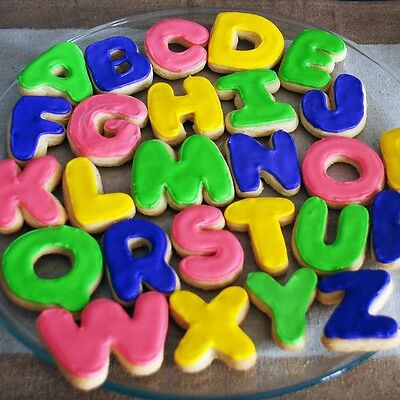 A-Z ALPHABET SHAPED CUTTERS Cookie/Fondant Sugarcraft Moulds/Biscuit Shapers