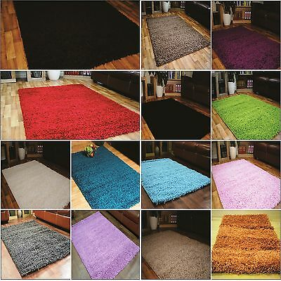 5cm Thick Pile Soft Small Large Cheap Area Mats Modern Shaggy Rugs Clearance