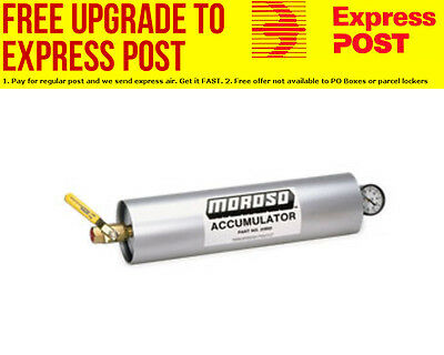 "Moroso Oil Accumulator 2.8Ltr Capacity , 20-1/8"" x 4-1/4"" Cylinder"