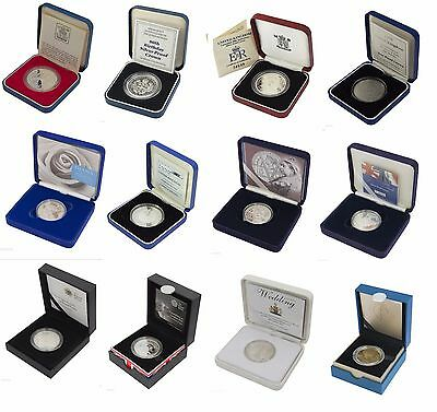 Silver Proof Five Pound £5 Coins Royal Mint Boxed And Coa Choice Of Date