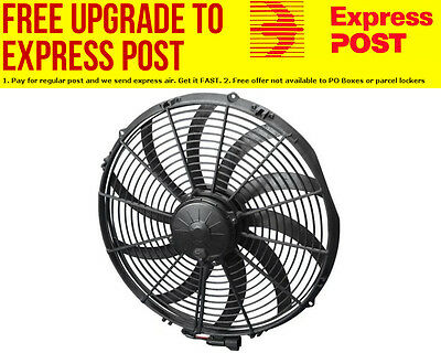 "Spal 16"" Extreme Electric Thermo Fan 3000 cfm - Puller Type With Curved Blades,"