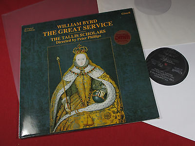 William Byrd THE GREAT SERVICE  Tallis Scholars LP Gimell Germany 1987 near mint