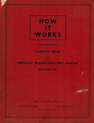 HOW IT WORKS Vol XV Complete Index Perpetual Trouble Shooters Manual 1947