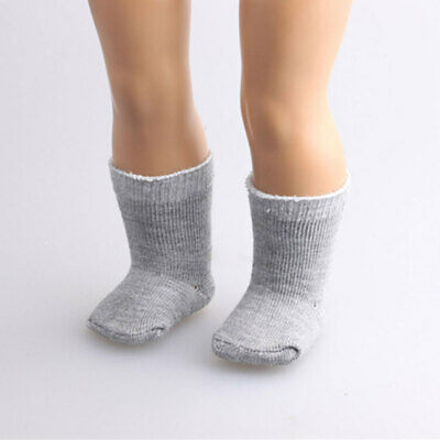 "Pair Grey Socks Stockings for 18"" American Girl Journey Gotz Doll Dress ACCS"