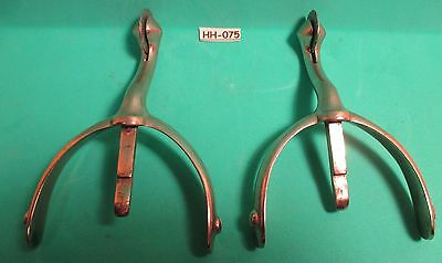 Rare ANTIQUE Nail On SWAN NECK C&M Co Boot Spurs Very UNUSUAL MAKE OFFER