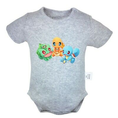 Pokemon Squirtle Bulbasaur Charmander Newborn Jumpsuit Baby Bodysuit Clothes Set