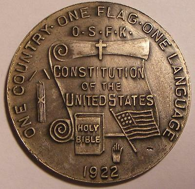 One Country - One Flag - One Language 1922 So-Called Dollar HK-908