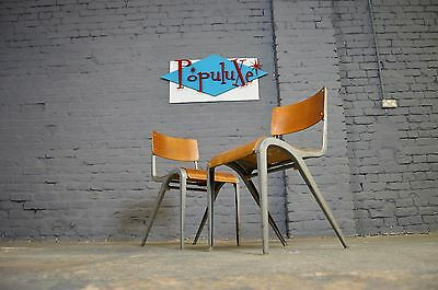 15 x Vintage Mid Century Industrial Esavian X201 Stacking Chairs James Leonard