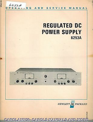HP Manual 6253A REGULATED DC POWER SUPPLY