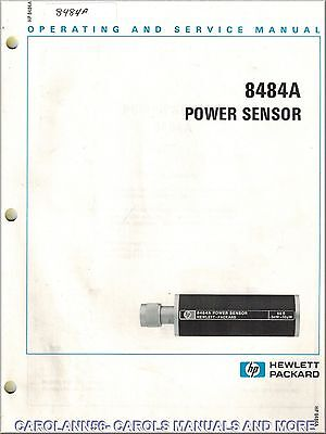 HP Manual 8484A POWER SENSOR
