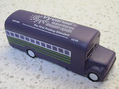 Vyvanse Buses! Lot of 50 ADHD Stress Squeeze Buses (stress balls) Pharmaceutical