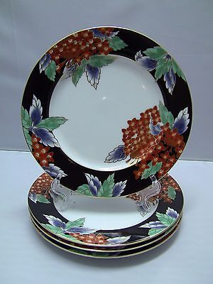 Fitz & Floyd FLEURS CHINOISES Bread & Butter Plates / Set of 4