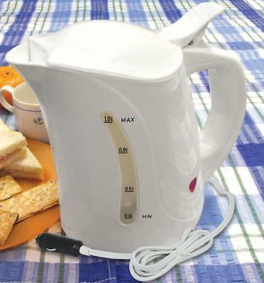 24V Portable Travel Kettle, Camping, Caravanning, Truck, HGV, Lorry - 1 Litre