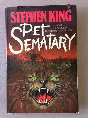 Pet Sematary Hardcover Book! TRUE 1st Edition! Stephen King! First Printing HCDJ