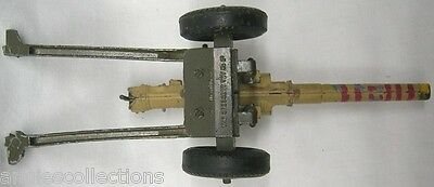 Crescent Toy Army Gun Cannon Adjustable Moving Barrel Rubber Tires Vintage