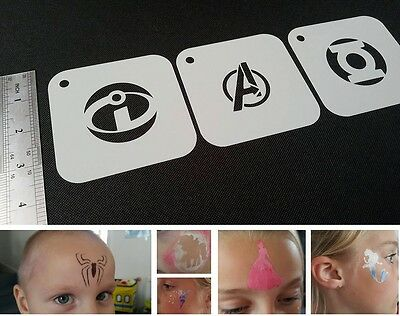 #4 EASTER Set of 6pcs Airbrush Stencils Kids Party Face Paint Card Making Eggs