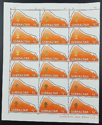 Gibraltar: 1969 New Constitution Block of 15 stamps SG236 MNH