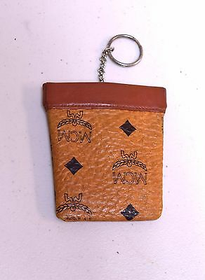 VINTAGE MCM Visetos Leather Key Coin Pouch Signed W Germany Michael Cromer