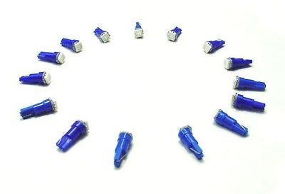 15 BRIGHT Dodge Chry Jeep Plym Blue LED 37 Wedge Instrument Panel Light Bulbs