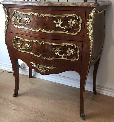 Sormani Paris Stamped Beautiful Marquetry Bronze Mounted Commode Free Shipping