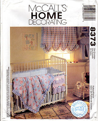 MCCALL\'S 8656 HOME DECORATING Sewing Pattern BABY ROOM ESSENTIALS ...