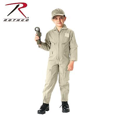 Rothco Kids Air Force Type Flightsuit - Kids Khaki Military Style Flight Suit