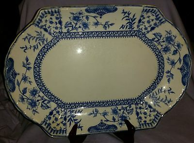 Antique 19Th Century English Ridgways Lichfield Large Platter