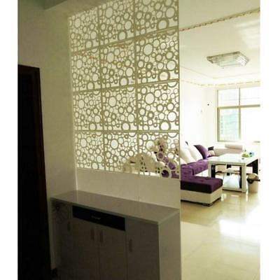 4pc Room Divider Folding Screen Space Partition Wall Haning Deco White Round