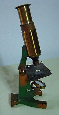 Antique Brass  Child's Microscope French