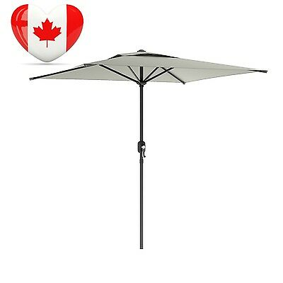 CorLiving PPU 330 U Square Patio Umbrella in Sand Gray