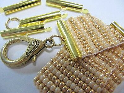 Bead loom Slider Clasp,Gold Color, 12 Piece/6 Sets, 1 Inch
