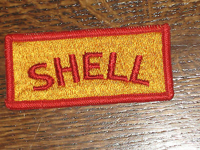 """shell   patch,60's,new old stock,  gold backround, 3""""x1.25"""""""