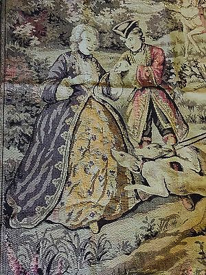 """Vintage French tapestry classical scene of the 17th century hang on the wall 60"""""""