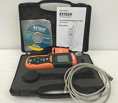 Mint! Extech HD450 Heavy Duty Datalogger Light Meter /PC Interface /6 mo. wrty