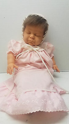 "Vintage Berjusa Sleeping Baby Doll 20"" Made in Spain Soft Body"