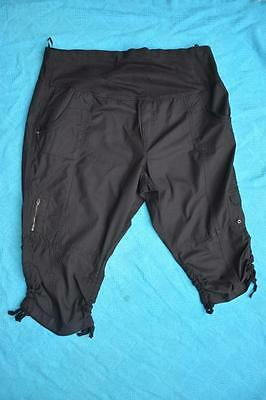 Crossroads Black MATERNITY Roll Waist Cargo Pants. Stretch Size 22 NEW rrp$39.99