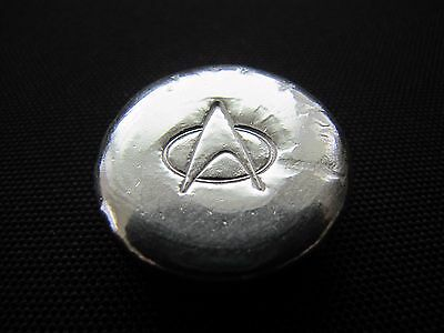 HACMint 2.3 oz 999+ Fine Silver STAR TREK Hand Poured ART ROUND